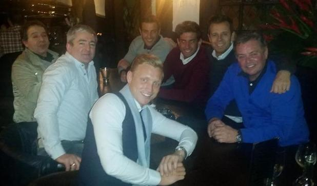 Mark Wright's dad holds a pre-stag meeting at Sheesh Chigwell - 15 Feb 2015