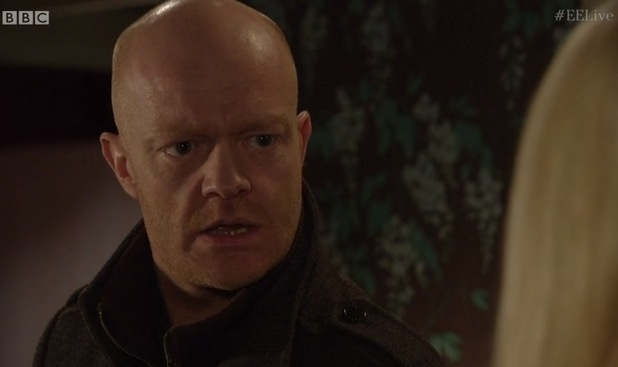 EastEnders live episode - Max Branning makes surprise admission to his daughter Abi. 17 February 2015.