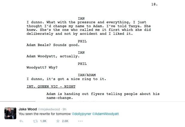 Jake Wood teases Jo Joyner with fake script after she fluffs lines on EastEnders Live - 19 Feb 2015