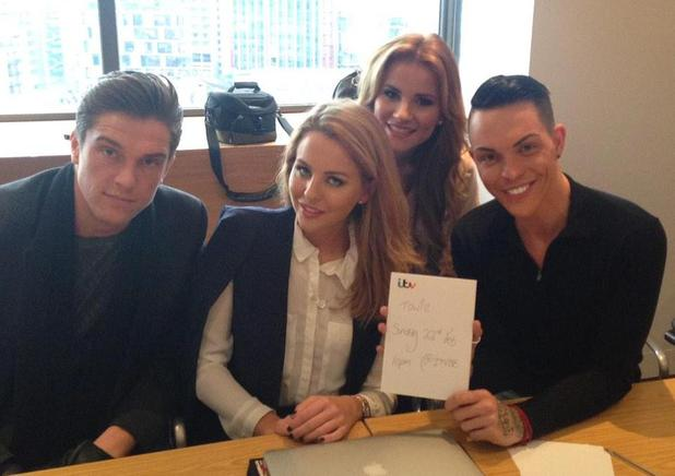 The Only Way is Essex's Lewis, Lydia, Georgia and Bobby on a TOWIE press day - London - 16 February 2015.