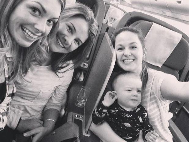 Georgia Jones, Izzy Judd and Giovanna Fletcher jet to Australia 3 February