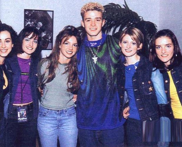 Britney Spears and Justin Timberlake throwback with B*Witched - 18 Feb 2015
