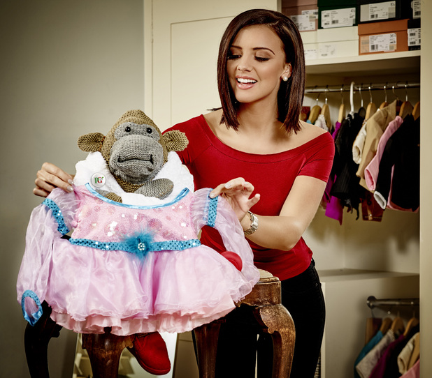 Lucy Mecklenburgh teams up with PG Tips to lend as Monkey prepares to have some fun for Red Nose Day - 19 January 2015.