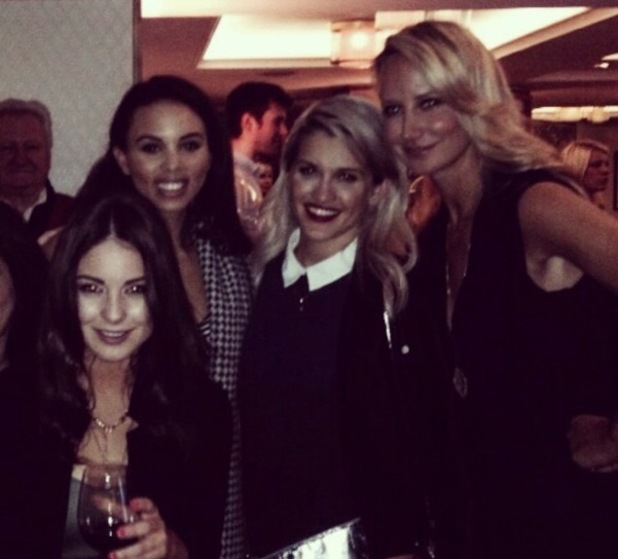 Louise Thompson, Ashley Roberts, Louise Hazel, Lady Victoria Hervey at Stacey Solomon's book launch, The Ivy, London 18 February