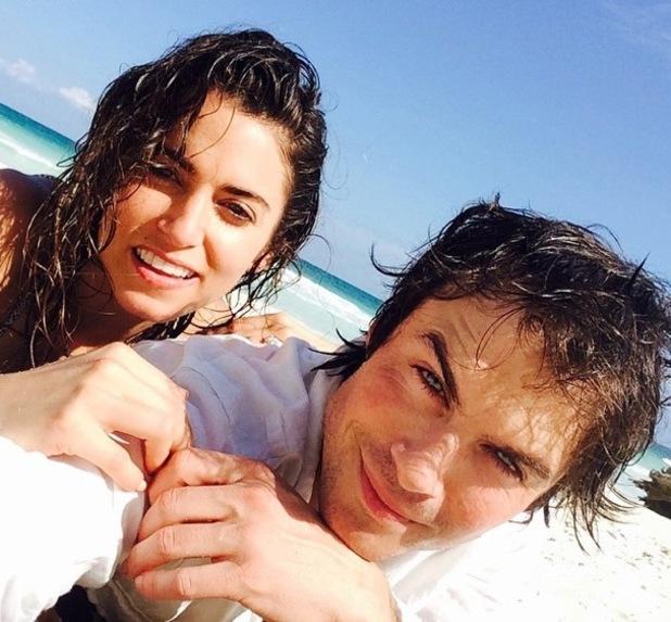Ian Somerhalder shares photo with fiance Nikki Reed 15 Feburary