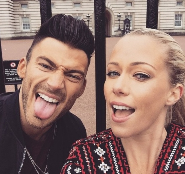 I'm A Celebrity... Get Me Out Of Here! stars Kendra Wilkinson and Jake Quickenden go on a tour of London. 19/2/2015.