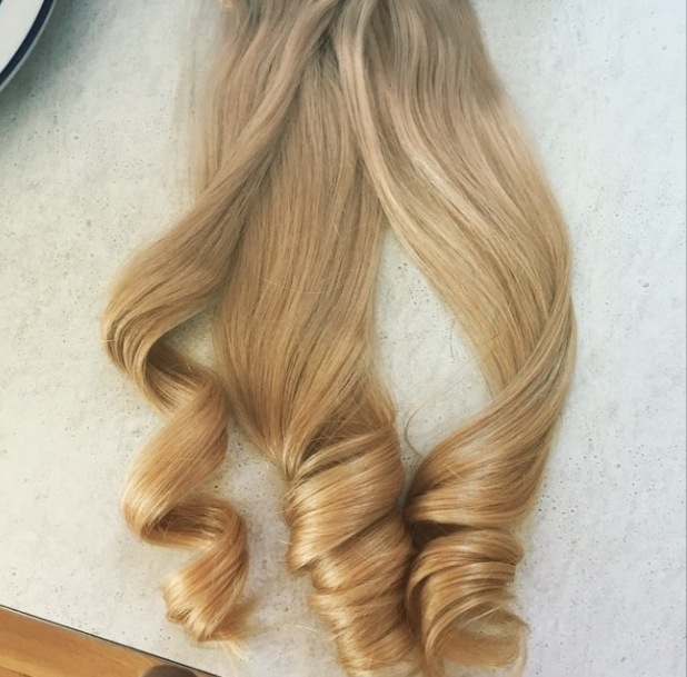 Shot of Gemma Collins' hair extensions