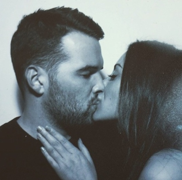 TOWIE's Ricky Rayment kisses Geordie Shore star girlfriend Marnie Simpson in new Instagram photo - 17 February 2015.