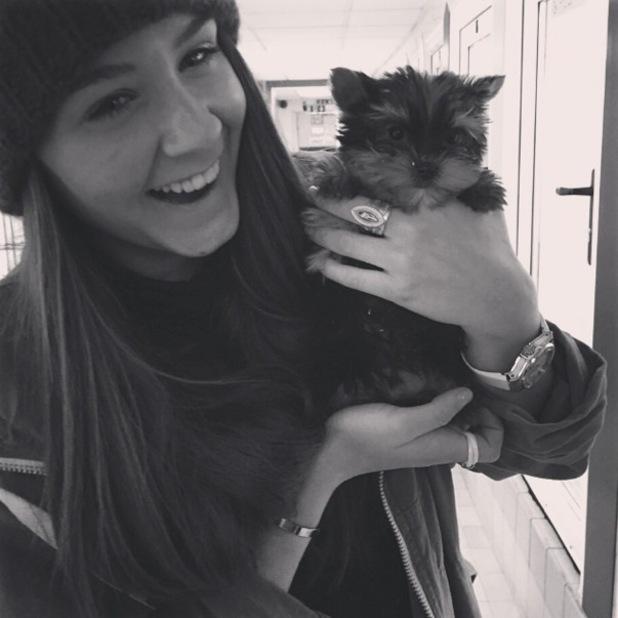 Brooke Vincent visits dog home, Instagram 18 February
