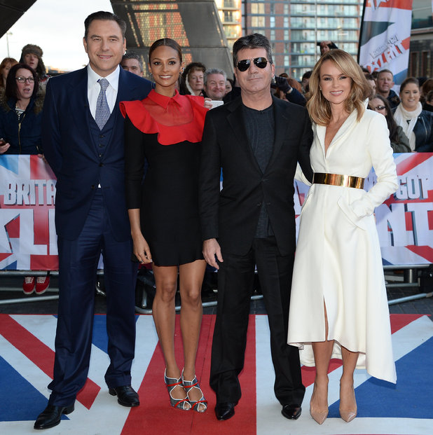 Simon Cowell, Alesha Dixon, David Walliams, Amanda Holden at Britain's Got Talent auditions, Manchester 31 January