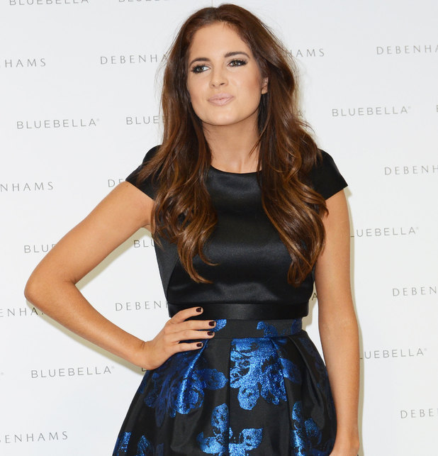 Binky Felstead promotes her range of lingerie at a photocall in Debenhams - 11/19/2014.