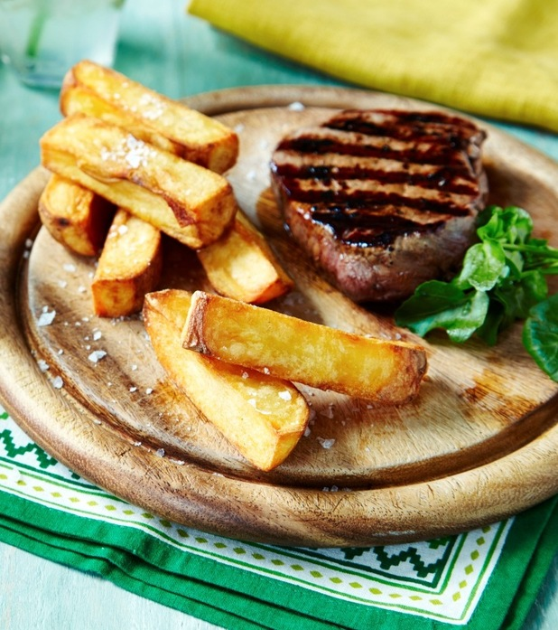 Steak and triple cooked chips recipe from sarsons pr