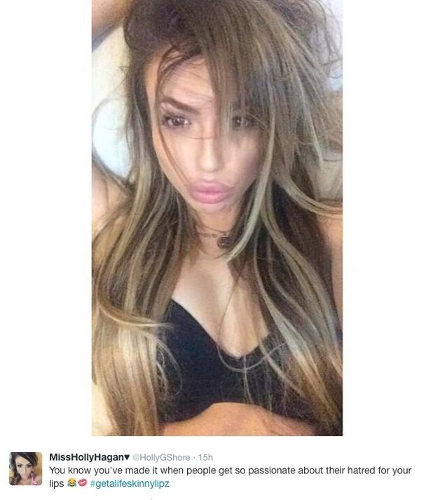 Holly Hagan hits back at Twitter trolls who mocked her lips - 20 Feb 2015
