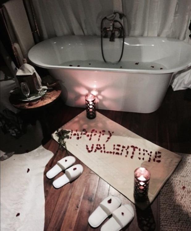 Cheryl Fernandez-Versini shares pictures of her Valentine's Day - 18 Feb 2015