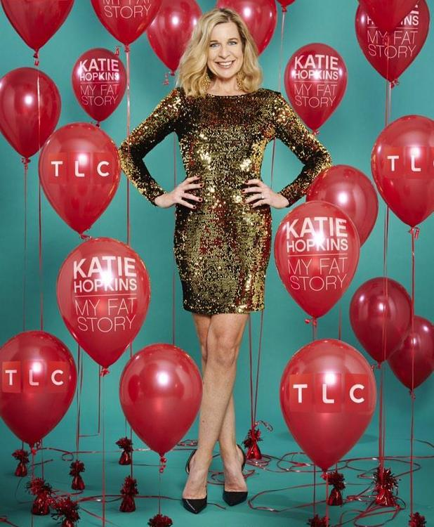 Katie Hopkins in promo shot for her TLC documentary My Fat Story, January 2015