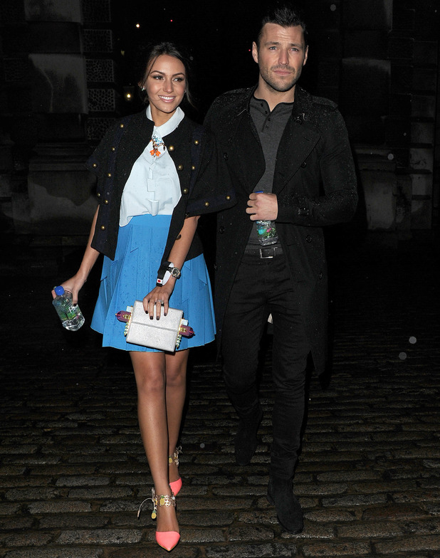 Mark Wright and Michelle Keegan at Fashion For Relief, Somerset House, London, 19 Feb 2015