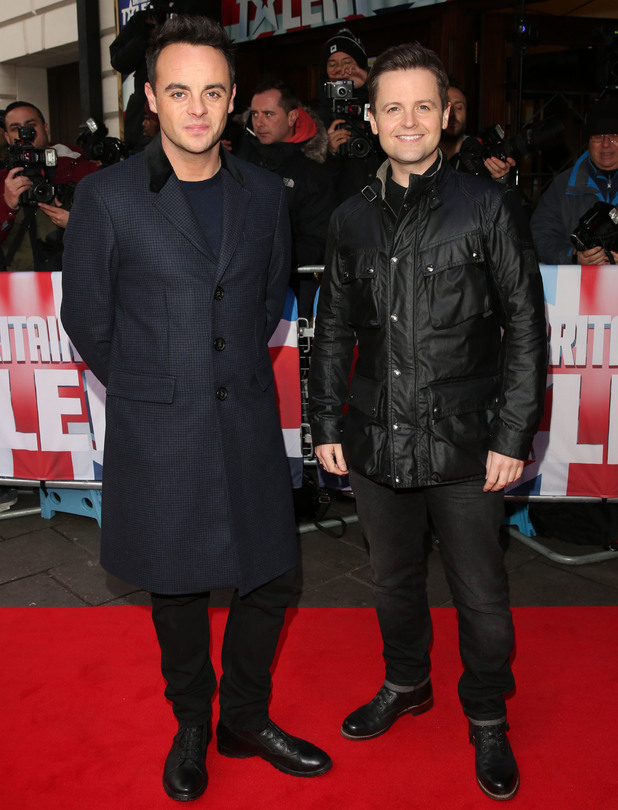 Ant McPartlin and Declan Donnelly at Britain's Got Talent auditions, London 11 February
