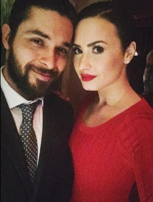 Demi Lovato and Wilmer Valderrama on Valentine's Day 15 February
