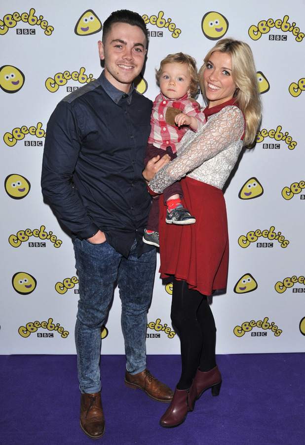 Ray Quinn and wife Emma Stephens attend Katie Morag' and Topsy & Tim UK Premiere at the Apollo Cinema, October 2013