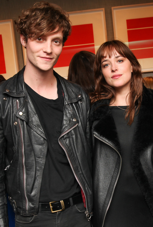 Dakota Johnson and Matthew Hitt attend the Kate Young 'Dressing For The Dark' book launch party, New York, America - 23 Oct 2014