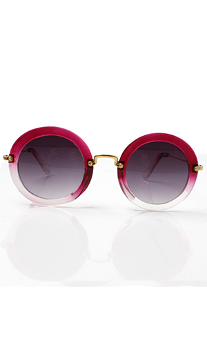 Pink round sunglasses from accessoryo.com £15