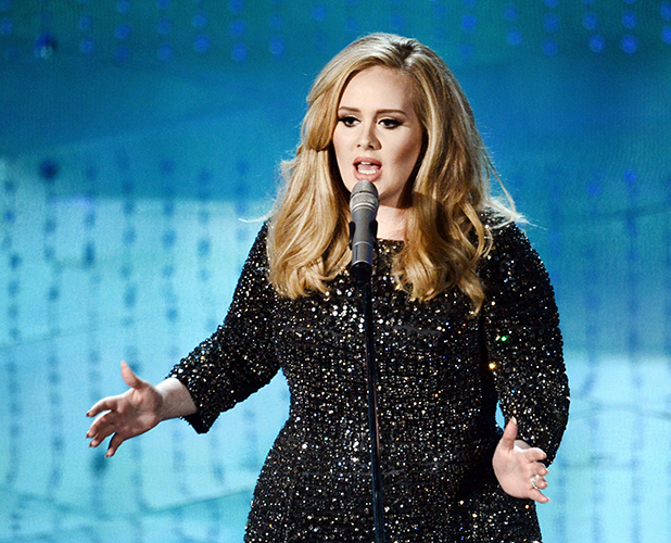 Adele performs onstage during the Oscars held at the Dolby Theatre on February 24, 2013 in Hollywood, California.