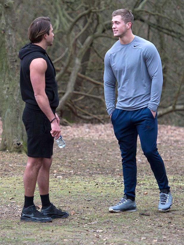 'The Only Way is Essex' cast filming, Essex, Britain - 19 Feb 2015 James Lock and Dan Osborne