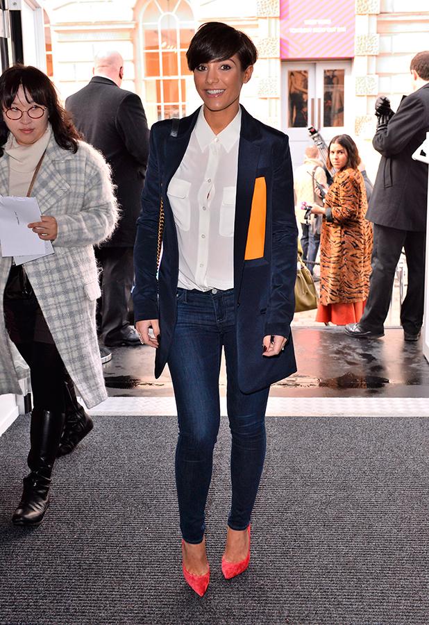 Frankie Bridge, J. JS Lee show, Autumn Winter 2015, London Fashion Week, Britain - 20 Feb 2015