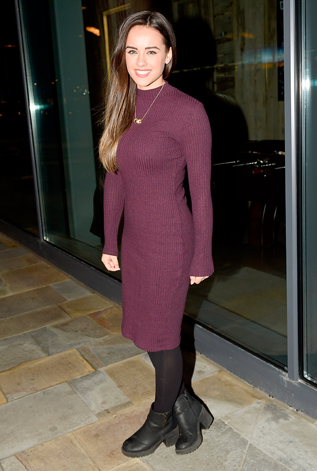 Georgia May Foote leaves the Coronation Street studios for the last time after filming her final scenes for the soap. 16 Feb 2015