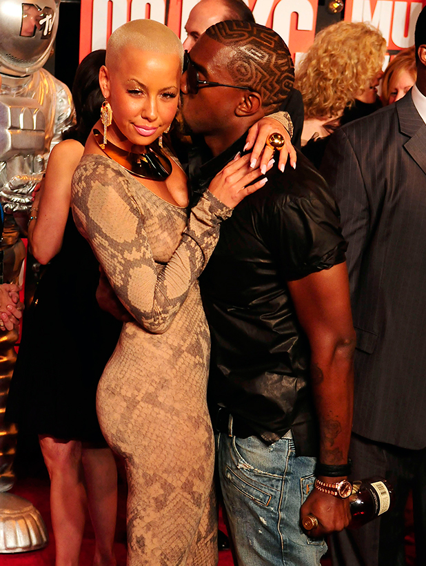 Rapper/Producer Kanye West with girlfriend Amber Rose, 2009 MTV Video Music Awards (VMAs) held at the Radio City Music Hall -