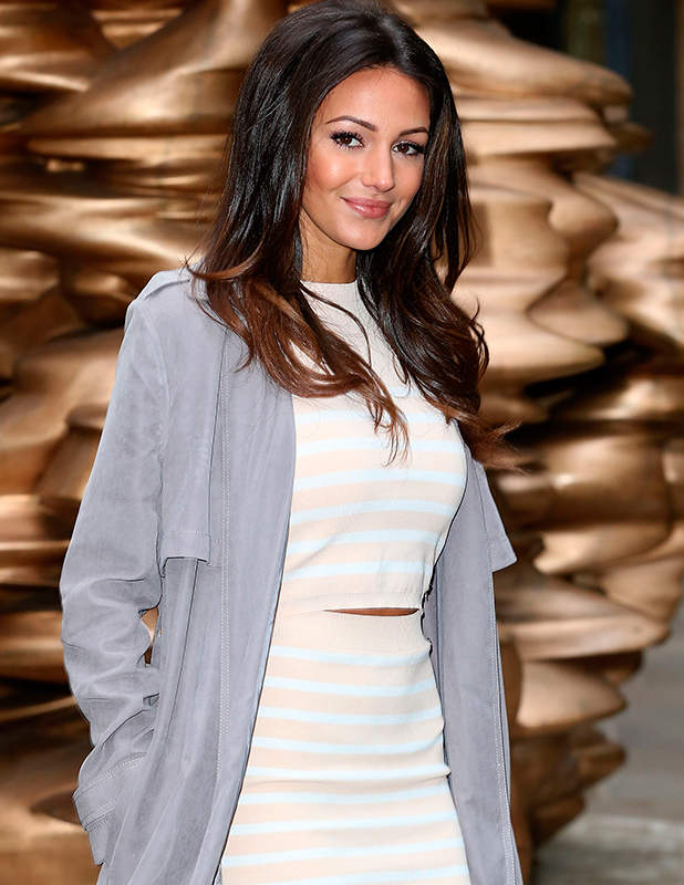 Michelle Keegan attends a photocall to launch her Lipsy Loves Summer collection at Ham Yard Hotel on February 10, 2015 in London, England. (Photo by Danny Martindale/WireImage)