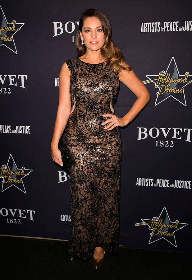 Kelly Brook attends 8th annual Pre-Oscar Hollywood Domino Gala & Tournament at Sunset Tower Hotel, 19 February 2015