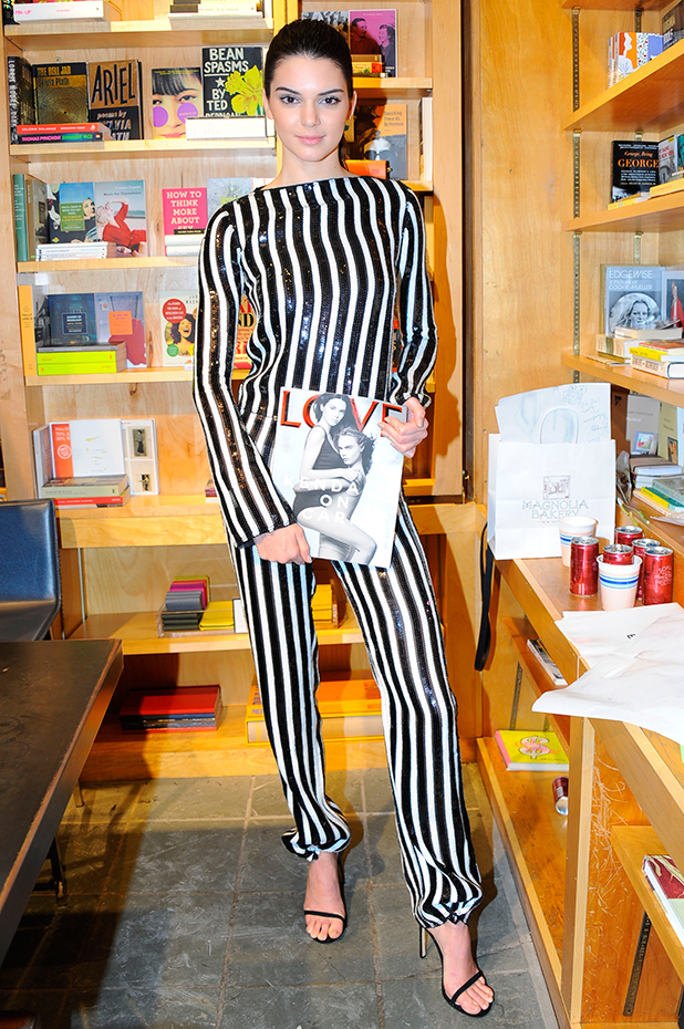 Kendall Jenner, LOVE Magazine Signing held at Bookmarc, New York, America - 14 Feb 2015