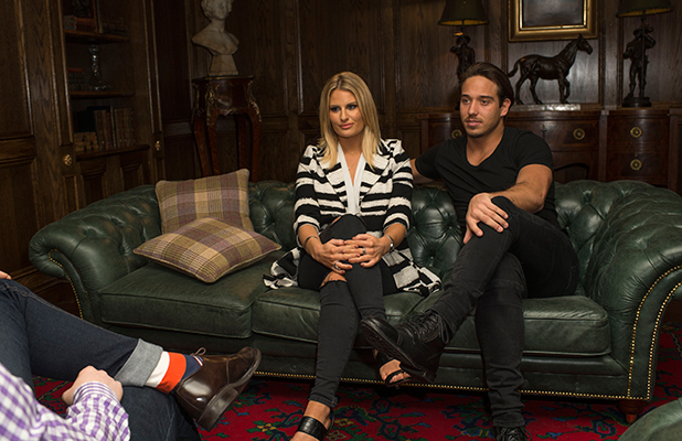 'The Only Way is Essex' cast filming, Essex, Britain - 19 Feb 2015 Danielle Armstrong and James Lock decide to take lessons with an elocution teacher and begin their mouth exercises.