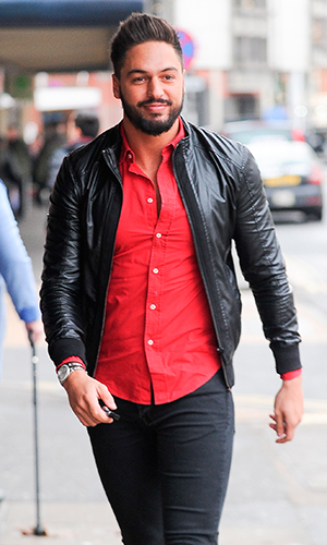 Mario Falcone of The Only Way Is Essex' stars at Evoke Nightclub in Chelmsford, Essex, 14 February 2015