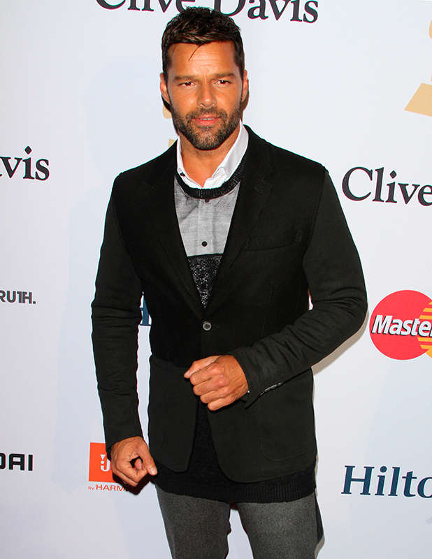 Ricky Martin at Pre-GRAMMY Gala & Salute to Industry Icons with Clive Davis Honoring Martin Bandier held at the Beverly Hilton Hotel, 2015