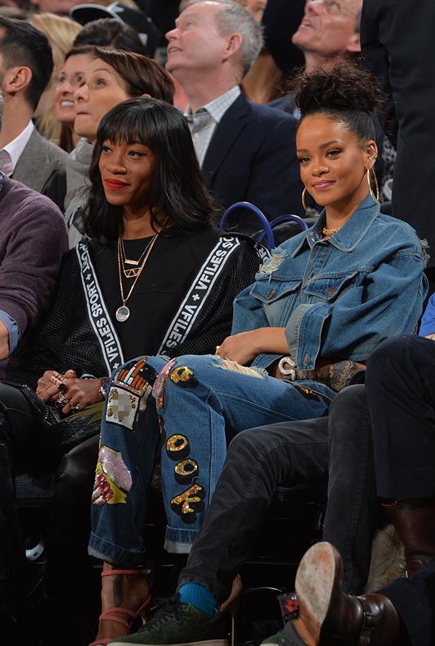 Rihanna at the NBA All-Star Game 2015 at MSG, 15 February 2015