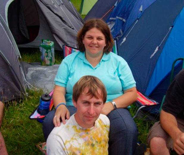 Sian Hopkins-Smith and husband Richard at Isle of Wight Festival