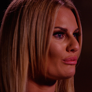 TOWIE series 14, episode 1: Danielle cries while talking to Ferne. Publicity still. To air 22 February.