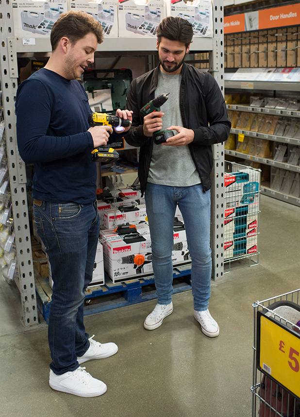 The Only Way is Essex' cast filming at B&A, Billericay, Essex, Britain - 17 Feb 2015 Dan Edgar and Diags
