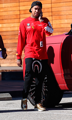 Rapper Tyga out shopping at Maxfields in West Hollywood, 2015