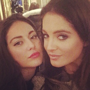 Binky Felstead and Louise Thompson take a selfie on Instagram 23 February