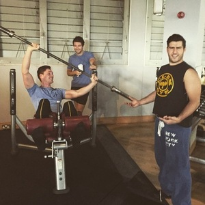 Binky Felstead trains with Alik Alfus, Josh Shepherd and Lonan O'Herlihy, Instagram 23 February