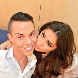 Casey Batchelor and Bobby Norris backstage at TOWIE: All Back To Essex, ITVBe 22 February