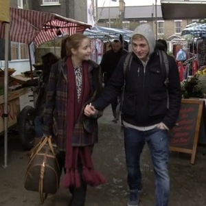 EastEnders' Ben Hardy bows out of the soap as market stall trader Peter Beale along with Lauren Branning - 24 February 2015.