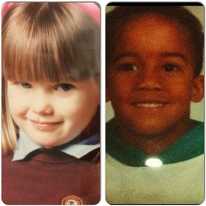 Helen Flanagan shares childhood photos of herself and Scott Sinclair ahead of baby's arrival, Instagram 25 February