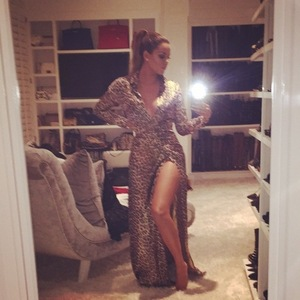 Khloe Kardashian in her second Oscars outfit, 22/2/15