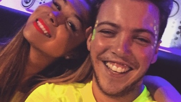 TOWIE stars Fran Parman and James Diags Bennewith take selfie in UV paint, Instagram 25 February