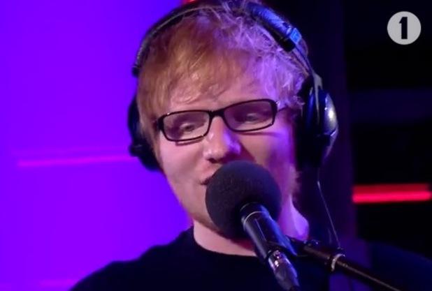Ed Sheeran covers Christina Aguilera's 'Dirrty' on Radio 1's Live Lounge - 24 February 2015.