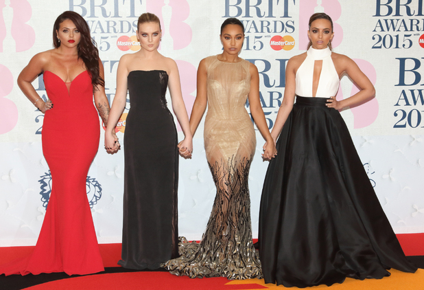 Little Mix attends the Brits 2015, The O2, London 25 February
